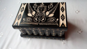 Big wooden Magic mystery Puzzle Secret tricky beautiful handcarved wooden jewellery storage box case special wooden toy