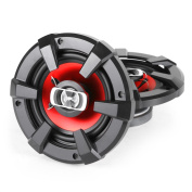 Auna SBC-5121 Pair of Audio Car Speakers High Performance (13cm , 1000W, 4-Way Coaxial Design) Black/Red