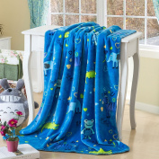 Printed Double Sides Thick Animal Gold Mink Fleece Super Soft Baby Toddler Boys Girls Blanket Throw By Big 7 Home