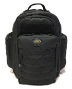 HSD Tactical Nappy Bag Backpack + Changing Pad, Insulated Pockets, Stroller Straps
