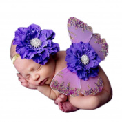 SMTSMT 2016 Newborn Baby Girls Butterfly Wings Costume Photo Photography Prop Outfits Purple