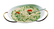 Mepra Stainless Steel Due Ice Oro Risotto Bowl with Stand