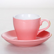 YX.LLA Creative Continental Ceramic Coffee Cup Vcds Mass Cups,Pink300Ml
