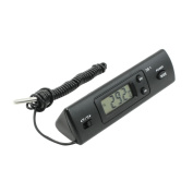 Plastic Shell Prism Shape Digital Display Thermometer Probe Black