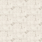 MyTinyWorld Dolls House Miniature Light Grey Vintage French Themed Wallpaper