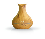 Viva Naturals Aromatherapy Essential Oil Diffuser - Vibrant Changeable LED Lights, Soothing Mist, Automatic Shut Off, Version B