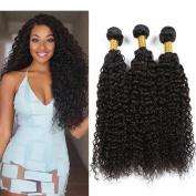 8A Grade Peruvian Kinky Curly Wave Hair Extensions 3 Bundles 100% Unprocessed Virgin Human Hair 100g/pc No Tangle No Shedding Natural Colour