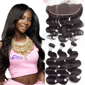 12 14 16 and 25cm Body Wave Bundles With Frontal Brazilian Virgin Hair Body Wave Remy Human Hair Extensions Natural Colour