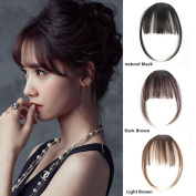BESTLEE Synthetic Hair One Piece Straight Clip in Hair Extensions Flat Air Fringe Front Bangs with Hair Temples