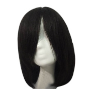 Remeehi 28cm Silk Base Straight Real Human Hair Wigs Clip in Toppers for Women