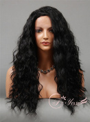 Soogo Fityous Wig for Black Women Long HEAT OK Curly Wavy Lace Front Wig Lace Front wig Blonde Mix full lace Wigs for women Curly Wavy wig for sale