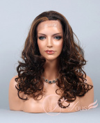 Soogo Fityous Lace Front Wig Curly Wavy Wig Tone Brown/Blonde/Auburn Mix Long Wig for Women Lace Front wig Blonde Mix full lace Wigs for women Curly Wavy wig for sale
