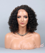 Soogo Fityous Lace Front Wigs Short Curly Wigs Brown Auburn Mix wigs for Black Women Lace Front wig Blonde Mix full lace Wigs for women Curly Wavy wig for sale