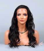 Soogo Fityous Lace Front Wig Delicate Long Wave OFF BLACK Wig for Black Women Black