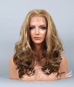 Soogo Fityous Synthetic Lace Front Wigs Curly Wavy Wig for Women Long Blonde Mix Wig Lace Front wig Blonde Mix full lace Wigs for women Curly Wavy wig for sale