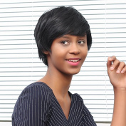 Wigs, Hatop Spiffy Short Cut Straight Layered Black Synthetic Short Hair Wig For Women
