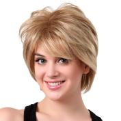 Wigs, Hatop Natural Short Wigs for Women Human Hair Wig Short Hair Wig