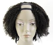 Ms Fenda Hair 100% Peruvian Remy Virgin Human Hair Afro Kinky Curly Style U-Part Full Machine Made Short Wigs