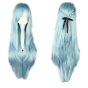 Kadiya Cosplay Wig Fashion New Long Blue Anime Hair Wig