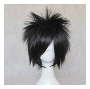 Kadiya Cosplay Wig Short . Black Boy Male Anime Show Synthetic Hair