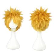 Kadiya Cosplay Wig Mens Fashion 30cm Short Yellow Anime Hair
