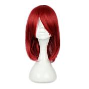 Kadiya Cosplay Wig Medium Length Red Animation Hair Heat Resistant