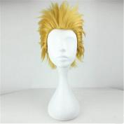 Kadiya Cosplay Wig Short Golden Yellow Spiky Character Play Coser Hair
