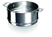 Beka Chef Steamer Insert for Casseroles and Stockpots, Stainless Steel, Silver, 24 cm