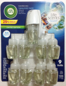 Air Wick Life Scents, 9 Larger 25ml Scented Oils & 1 warmer - Turquoise Oasis