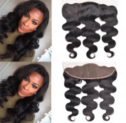 13x 4 Ear to Ear Lace Frontal with Baby Hair Unprocessed Virgin and Brazilian Hair Body Wave Human Hair Extensions 36cm