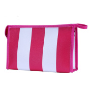 Hatop Fashionable Portable Stripe Cosmetic Bag Travel Toiletry Bag Organiser …