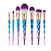 MixBeauty 7pcs Diamond Shaped Handle Makeup Brushe Set For Powder Foundation Contour Blending Eyeshadow Eyebrow Brushes
