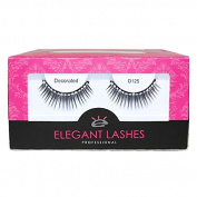 Elegant Lashes D125 (Pro Dozen Pack - 12 Pairs) | Volumizing and Lengthening Rhinestone False Eyelashes