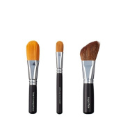 VEGAN LOVE Total Coverage Face Ultimate Concealer Brush Trio, Angled Face