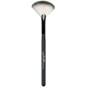 JAF Vegan Make Up Brushes Small Fan Brush Fan Shaped Powder Brush Brushes 07SWF Black Colour