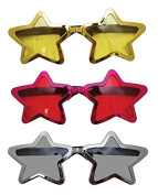 P 'tit clown 35983 Oversized Plastic Sunglasses - Metal Pink/Gold/Silver Star