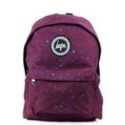 HYPE Backpack Speckle Paint Burgundy/Blue School Bag - HYPE Bags