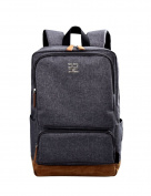 Douguyan Casual Backpack for Men Rucksack for 40cm Laptop E43701B Grey