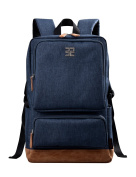 Douguyan Casual Backpack for Men Rucksack for 40cm Laptop E43701B Blue