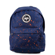HYPE Backpack Speckle Paint Navy/Orange School Bag - HYPE Bags