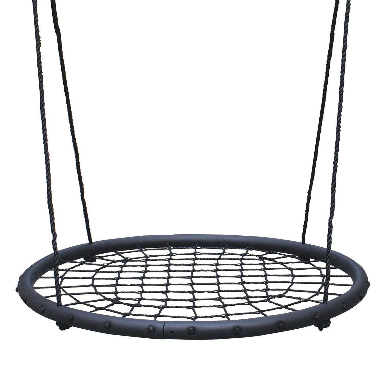 2 Person Giant Kids Outdoor Nest Disc Swing Tree Spider Net Mesh