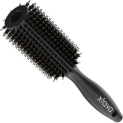 xtava 33mm Double Bristle Body Brush - Essential Salon Quality Round Brush with Natural Boar and Synthetic Nylon Bristles - Volumizing Hair Brush Best for Fast Drying Easy Detangling and Major Shine