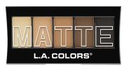 L.A. Colours 5 Colour Matte Eyeshadow, Brown Tweed, 0ml