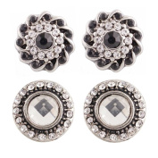 """Chunk Snap Charm Mini Petite Snaps 12mm (1/2"""" Diameter) Includes Two Pairs Shown-Ideal for Mini Earrings"""