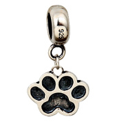 Dog Paw Dangle Charm Original 100% Authentic 925 Sterling Silver Animals Beads Charm fit for DIY Charms Bracelets