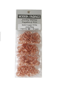 Copper Round Open Jump Ring 18 Ga Wire Assorted Sizes / Saw Cut Made In USA