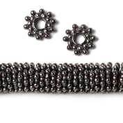 9mm Black Gold Plated Copper Daisy Spacer Beads 3mm ID 8 inch 130 beads
