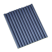 GlueSticksDirect Blue Metallic Coloured Glue Sticks mini X 10cm 12 Sticks