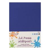 Dovecraft A4 Art + Craft Coloured Foam 8 Sheet Shade Multipack - Blues