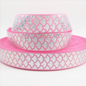 Mermaid Ribbon Laser Sequins Fish Scales Grosgrain Ribbon 2.5cm Wide For Decoration and DIY Handmande Accessories